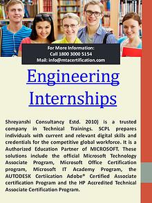 Internships For Computer Science Engineering Students