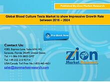 Global Blood Culture Tests Market to show Impressive Growth Rate betw