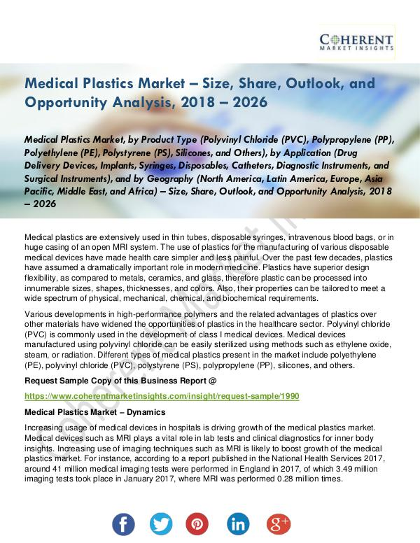 Medical Devices Research Reports Medical Plastics Market