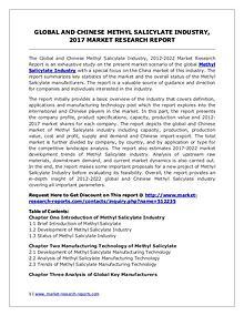 Global Methyl Salicylate Industry Forecast Study 2012-2022