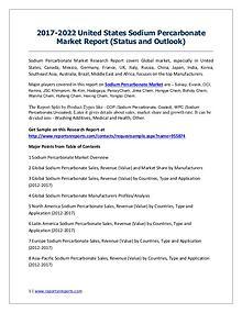 United States Sodium Percarbonate market Analysis, Sales Present Situ