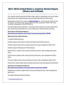 L-Arginine Market 2017 Analysis, Trends and Forecasts 2022