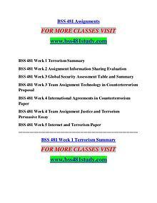 BSS 481 STUDY It's Your Life/bss481study.com