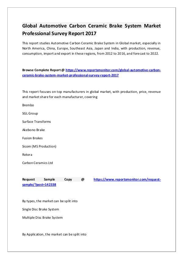 Automotive Carbon Ceramic Brake System Market