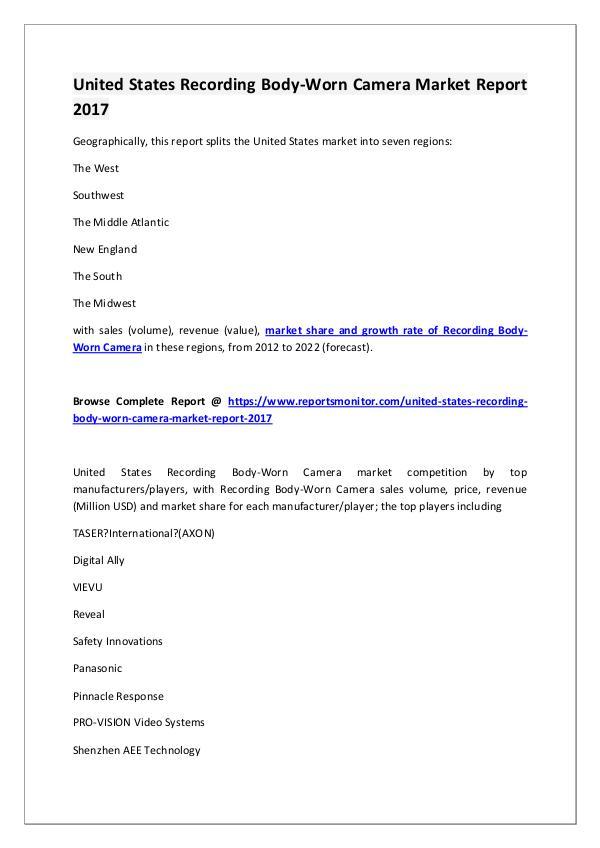 Recording Body-Worn Camera Market Research Report