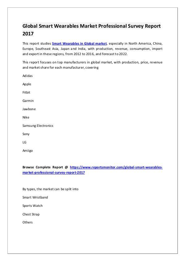 Smart Wearables Market Research Report