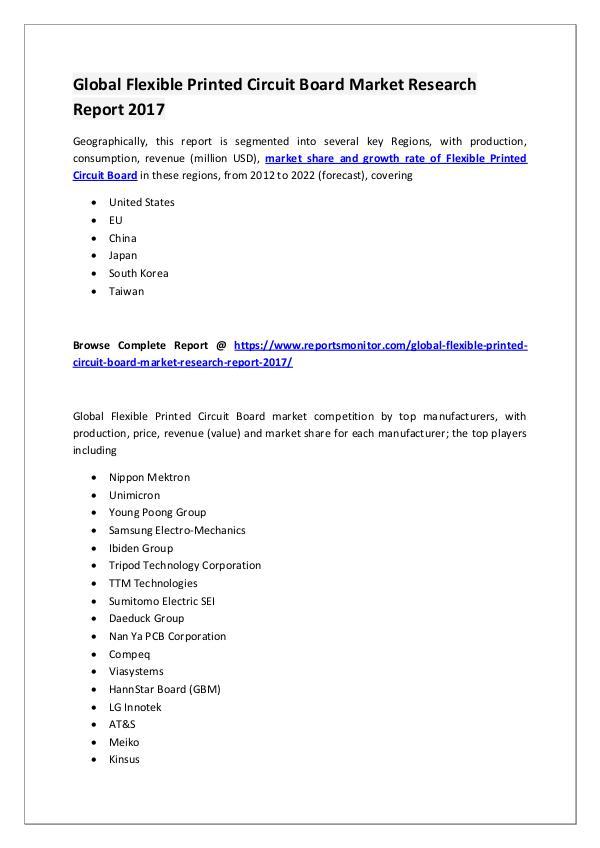Flexible Printed Circuit Board Market Report