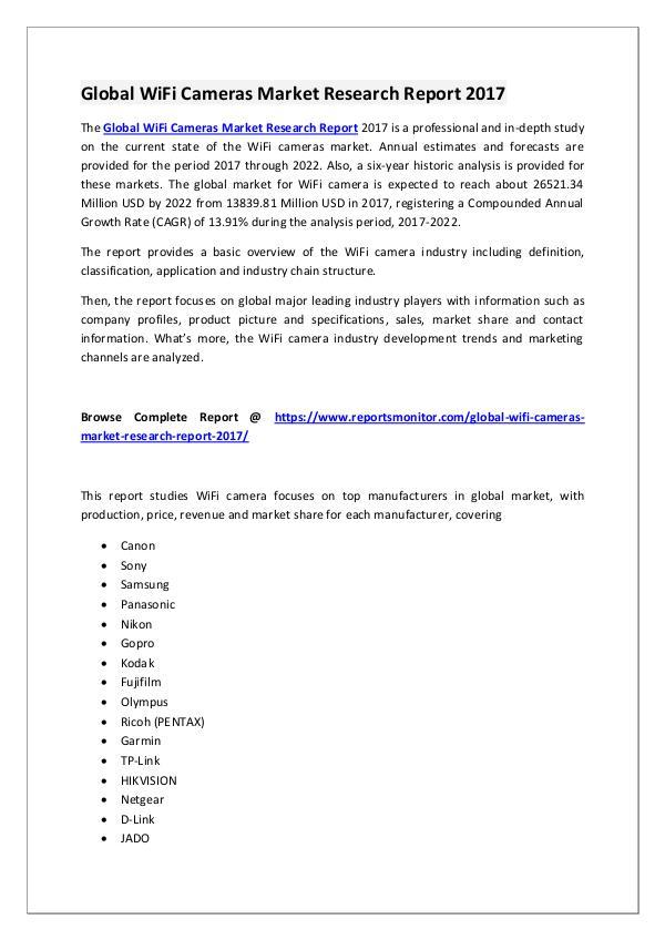 WiFi Cameras Market Research Report