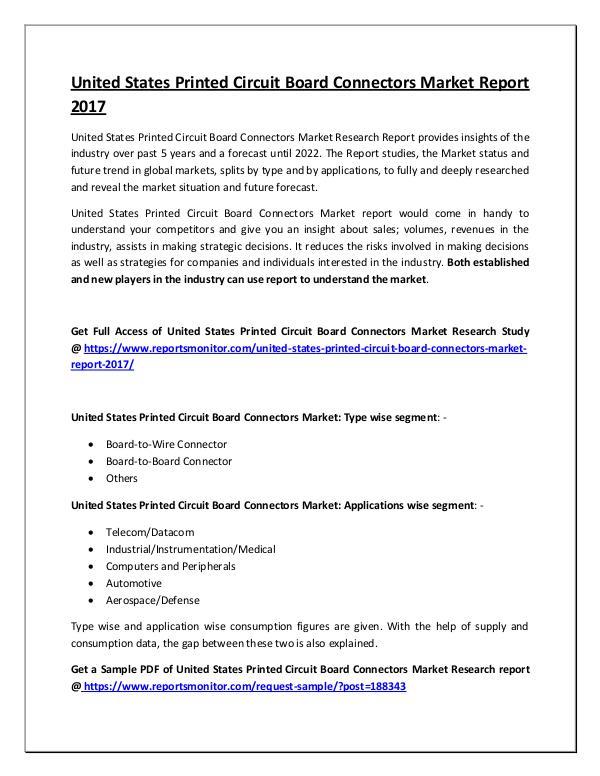 Printed Circuit Board Connectors Market Report