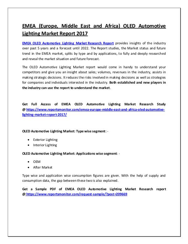 OLED Automotive Lighting Market Research Report