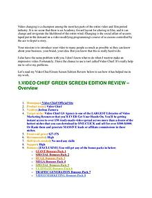 VIDEO CHIEF GREEN SCREEN REVIEW   William Review   Joomag