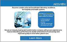 Accumen creates value and accelerates laboratory excellence