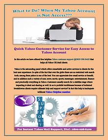 Yahoo Customer Service for Easy Access to Yahoo Account