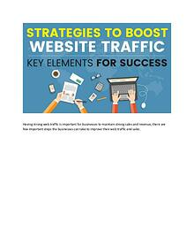 Strategies to Boost Website traffic
