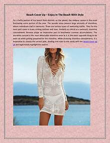 Beach Cover Up – Enjoy In The Beach With Style