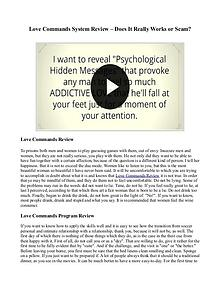 Love Commands Review - Does It Work? Free PDF Download!!