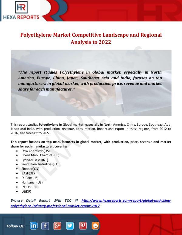 Hexa Reports Industry Polyethylene Market