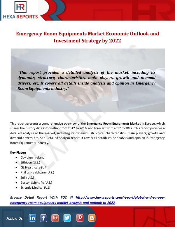 Hexa Reports Industry Emergency Room Equipments Market
