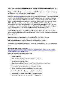 Global Website Builders Market