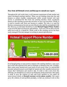Hotmail Customer Care number in USA