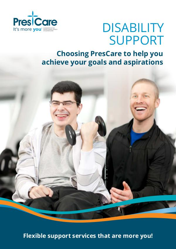 Disability Support by PresCare Disability-brochure-2018-WEB