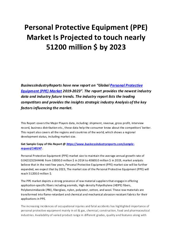Business Industry Reports Personal protective equipment Market