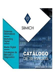 Catàlogo de servicios SIIMICH