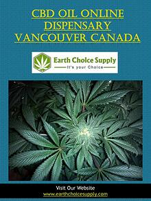 Cbd Oil Online Dispensary Vancouver Canada | earthchoicesupply.com