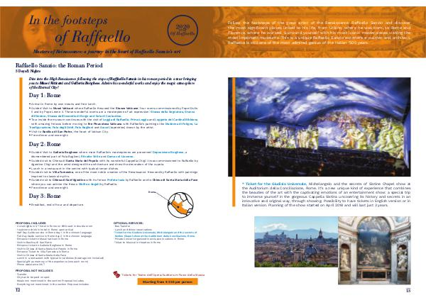 Enjoylive Travel Cultour Proposals In the footsteps of Raffaello