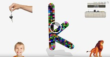 Learn Alphabet letters and sounds phonics for kids with colorful ball