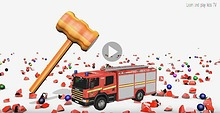 Learning Colors With Street Vehicles for kids with 3D Surprise Eggs
