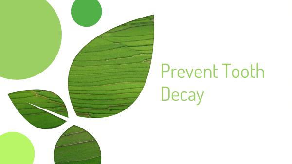 Preventing Tooth Decay Tooth Decay