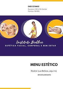 Menu Instituto BioChic
