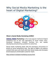 Why Social Media Marketing is the heart of Digital Marketing?