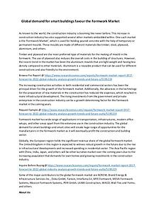 Formwork Market Size Analysis Report 2024