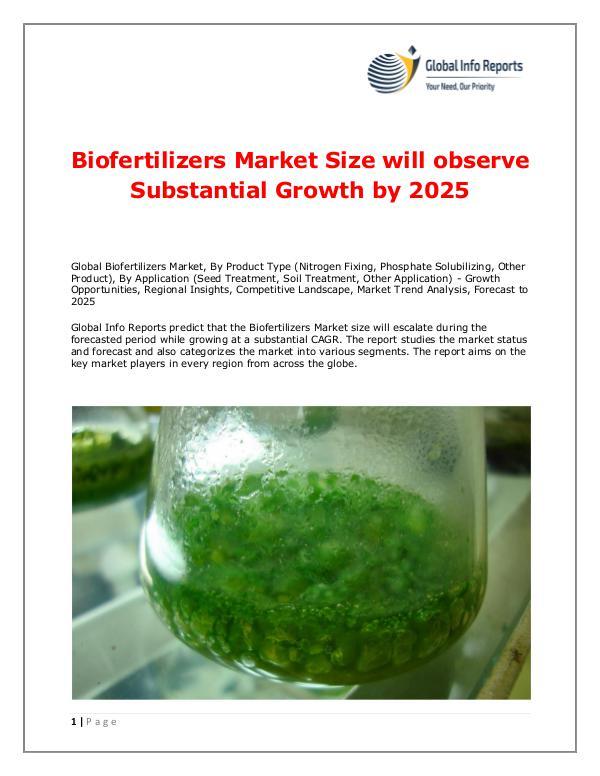 Global Info Reports Biofertilizers Market 2018