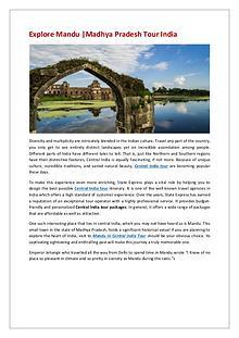 Explore Mandu   Madhya Pradesh Tour India