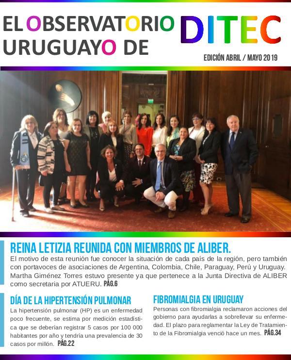 El Observatorio Uruguayo de DITEC Abril - Mayo 2019
