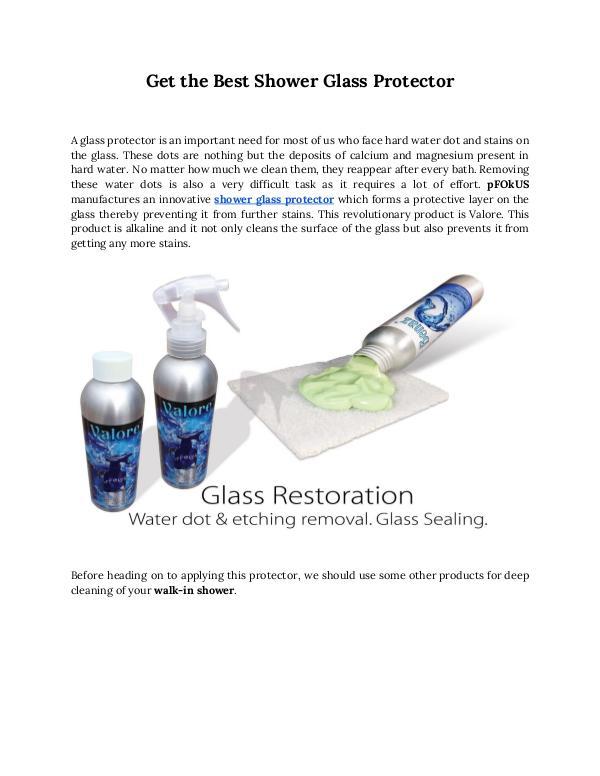 Best shower glass door cleaner and sealer Glass Enclosure