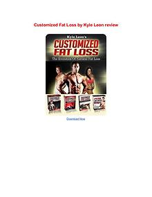 Customized Fat Loss Kyle Leon