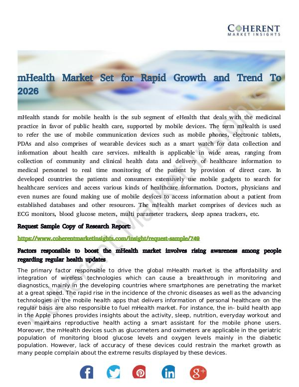 Stairlifts Market: Foresees Skyrocketing Growth in the Coming Years mHealth Market