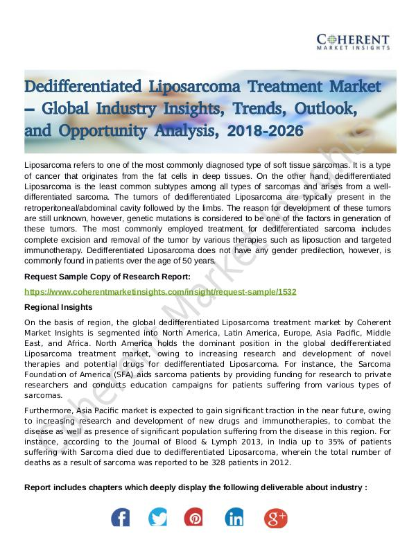 Stairlifts Market: Foresees Skyrocketing Growth in the Coming Years Dedifferentiated Liposarcoma Treatment Market