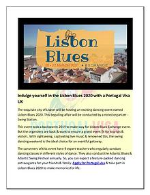 Lisbon Blues 2020 – A swing dancing weekend with Music & sightseeing