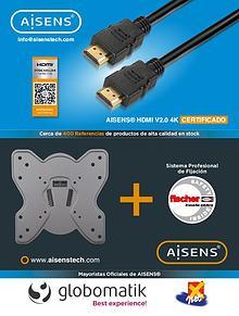 Mayoristas oficiales de AISENS cables conexiones soportes audiovisual