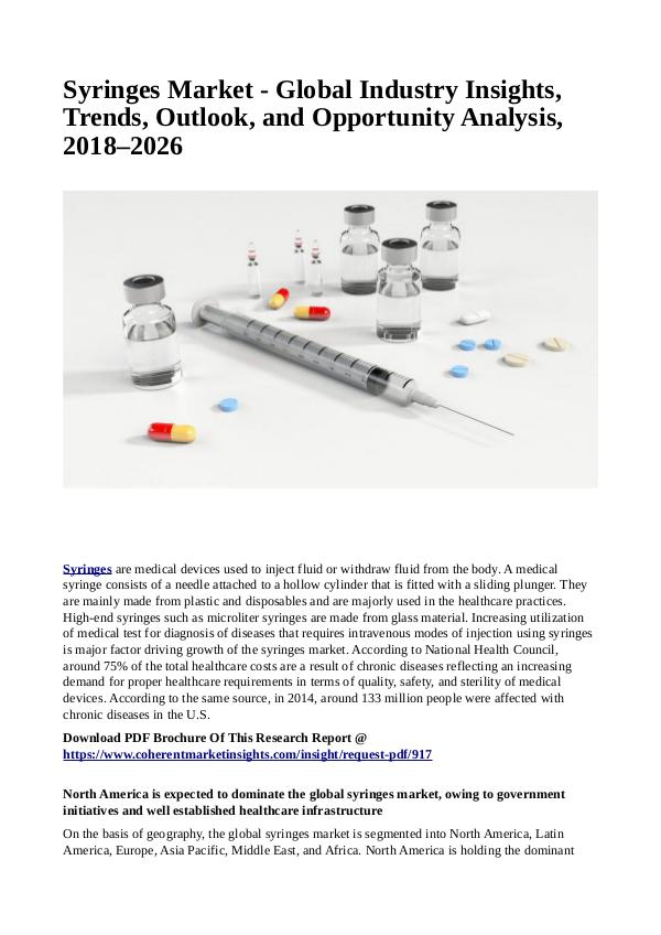 Healtcare Syringes Market