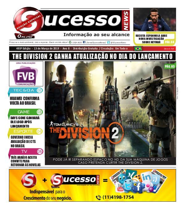 Jornal Sucesso News Jornal Sucesso News - Edição - 493 ONLINE