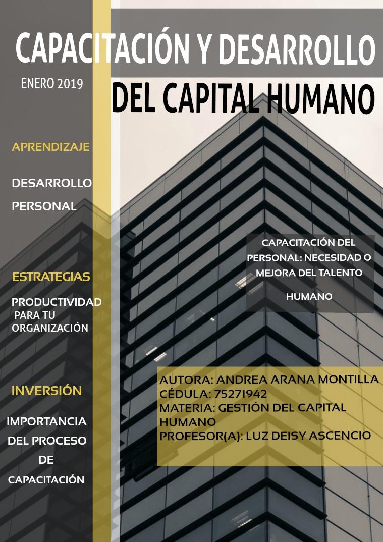 Capacitación y desarrollo del capital humano Capacitación y desarrollo del capital humano