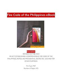 Fire Code of the Philippines Ebook - SafetySignsPH.com