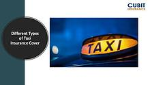 Different Types of Taxi Insurance Cover