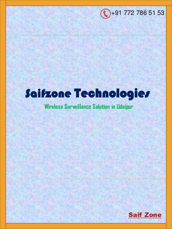 Wireless Surveillance Solution in Rajasthan Access Control System in Udaipur